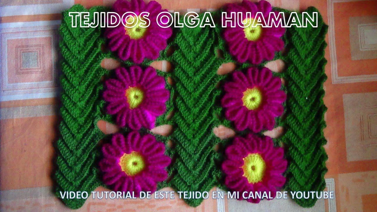 Muestras tejidos a crochet y/o ganchillo con diseños de flores ...
