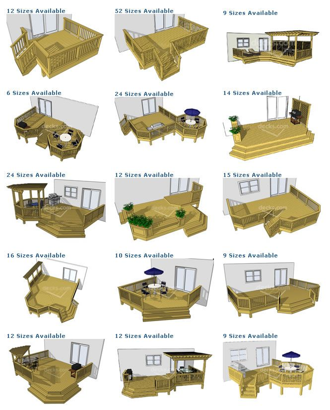 Free Building Plan For A Transitional Backyard Deck: Deck Plan Pictures Are Courtesy Of