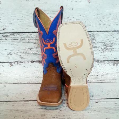 Hooey Blue and Orange Western Boot