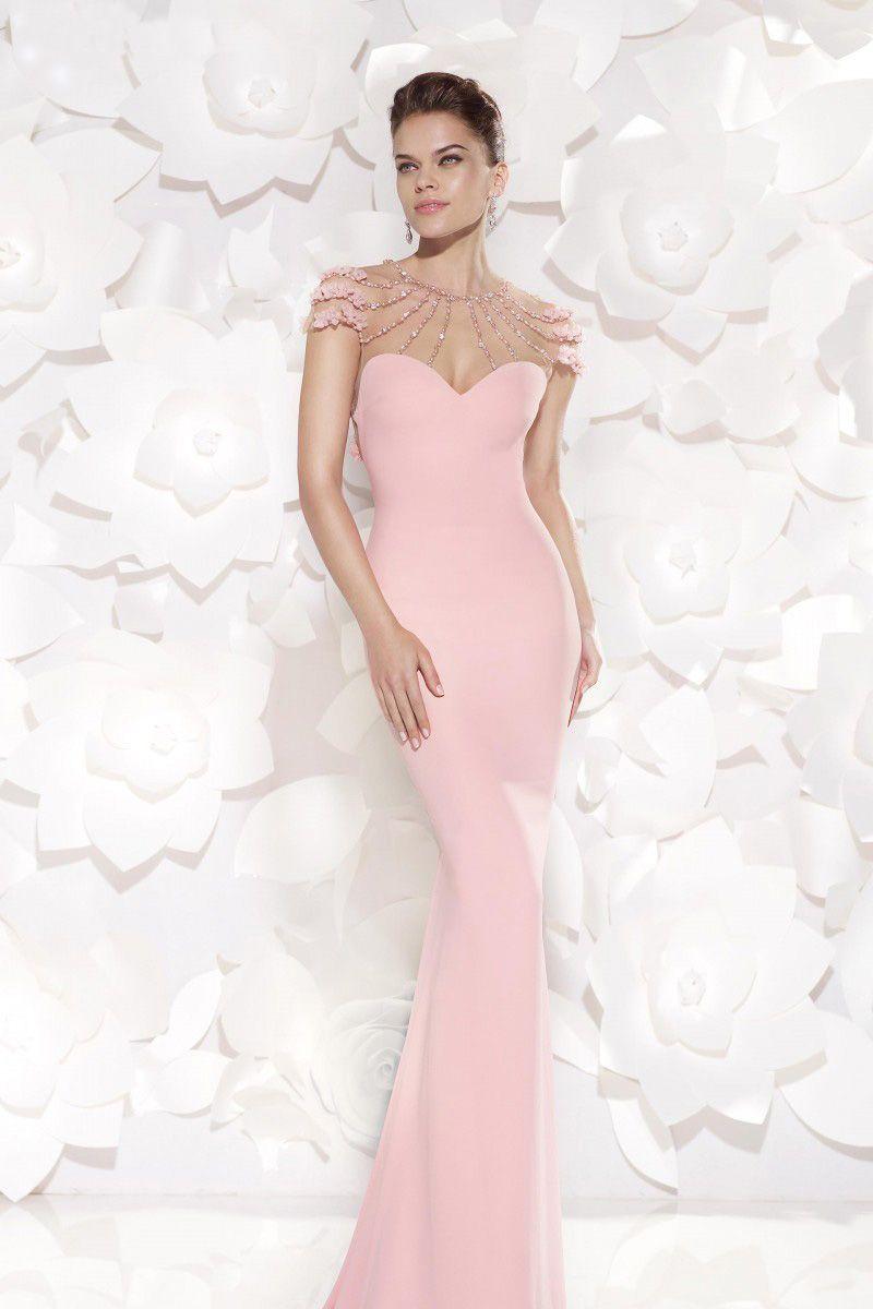 Rochie de seara Eslina, model tip sirena cu trena, realizata din ...