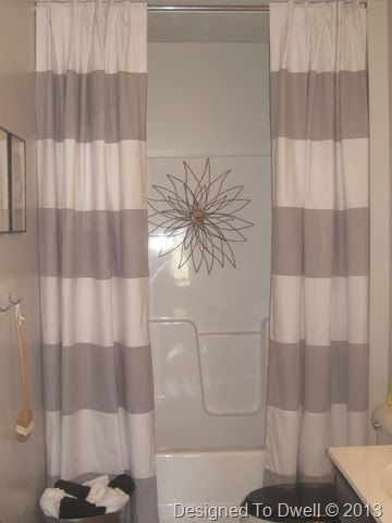 How to hang a double shower curtain … | New Bath…