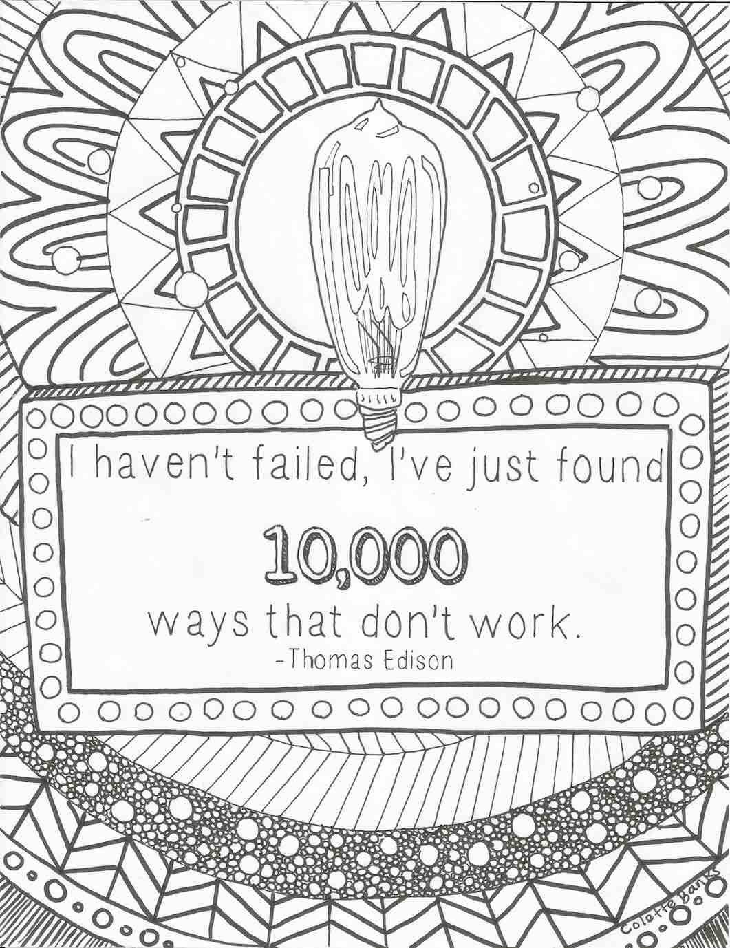 I Haven\'t Failed, Quote by Thomas Edison, Digital Print Adult ...