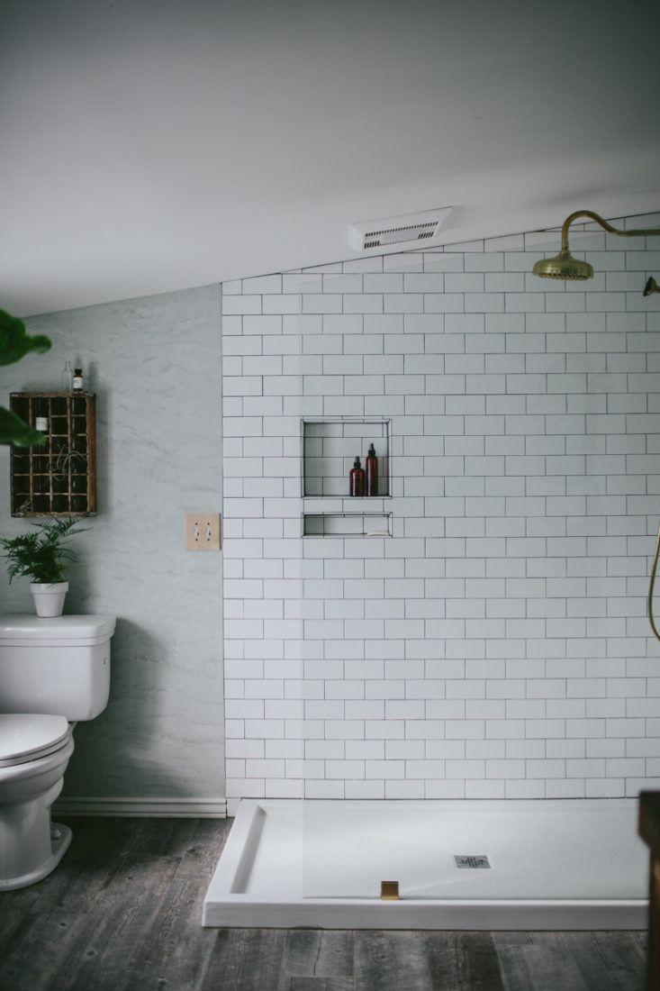 A Food Blogger S Rustic Diy Renovation In Portland Or Dark And Moody Edition Bathroom Inspiration Shower Remodel Master Bedroom Bathroom
