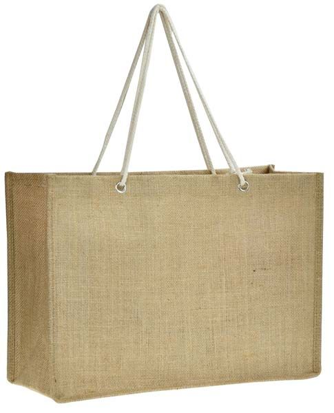 Natural Jute Fiber With Laminated Backing Cotton Handle