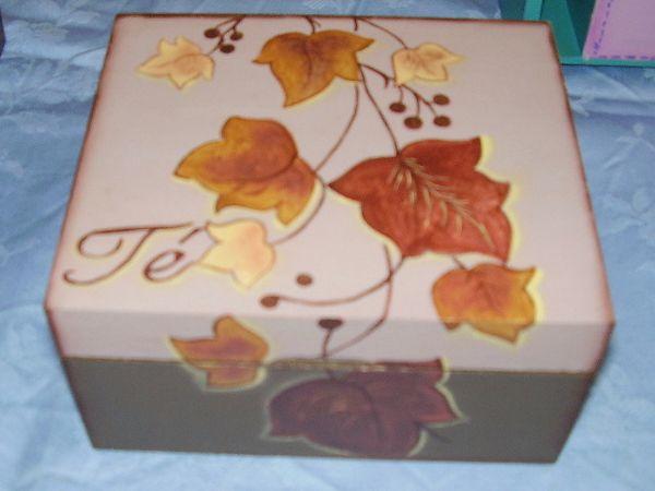 Porta Saquitos De Té Artesanales Decoración En Madera Hogar Decoración Y Diseño Cajas Pintadas Cajas Decoradas Cajas De Madera Pintada