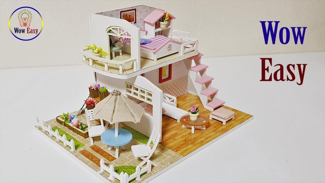Diy Doll House Furniture Easy Craft 5 Diy Dollhouse Miniatures Living Diy Dollhouse Furniture Popsicle Stick Houses Dollhouse Miniatures Diy