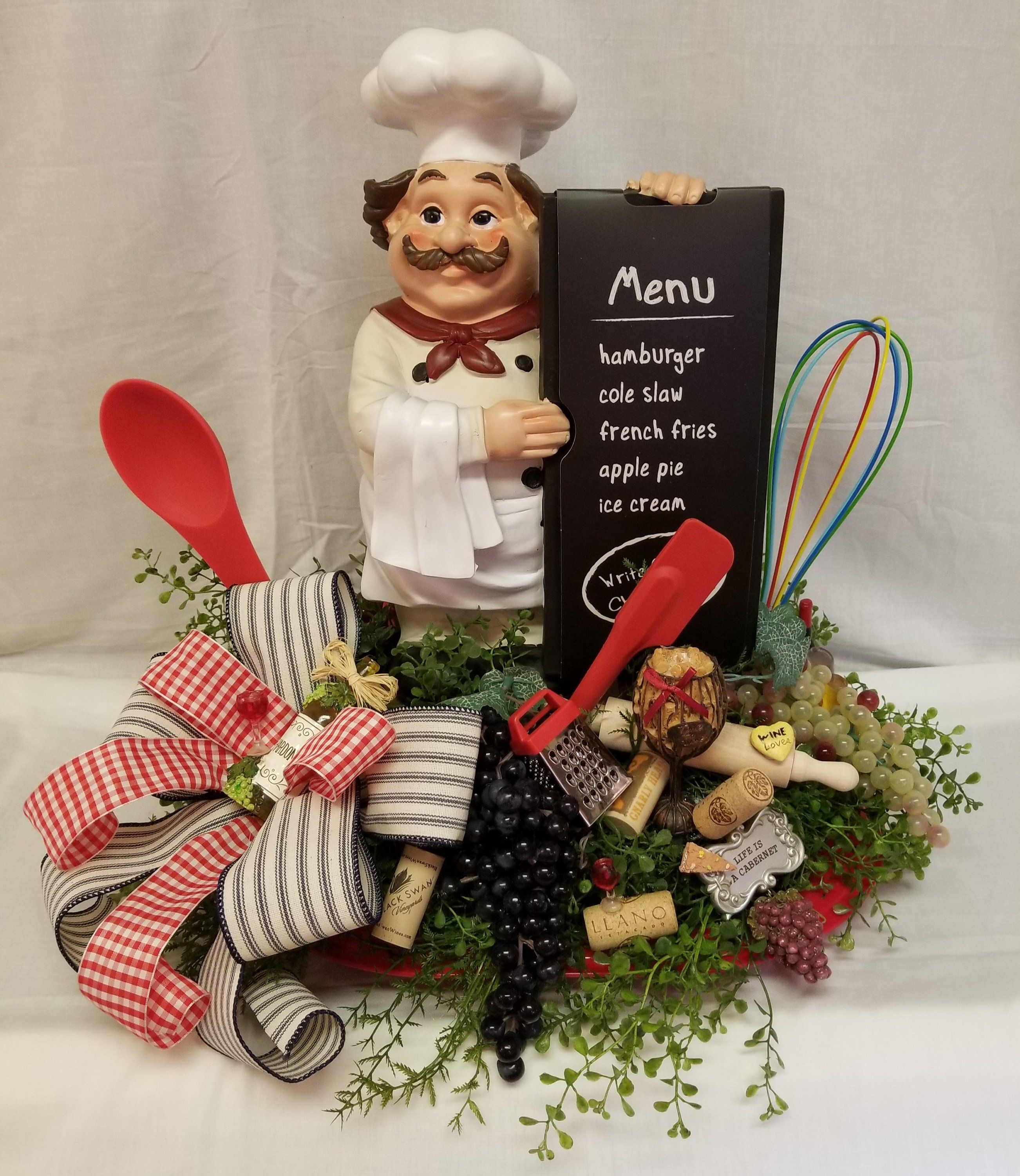 Kitchen Centerpiece, Kitchen Decor, Italian Chef Centerpiece