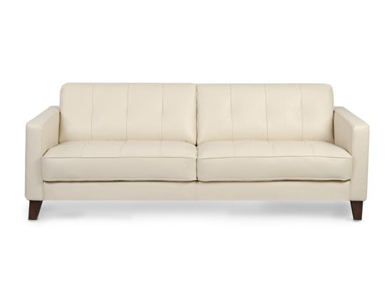 Gregata Leather Sofa Beige