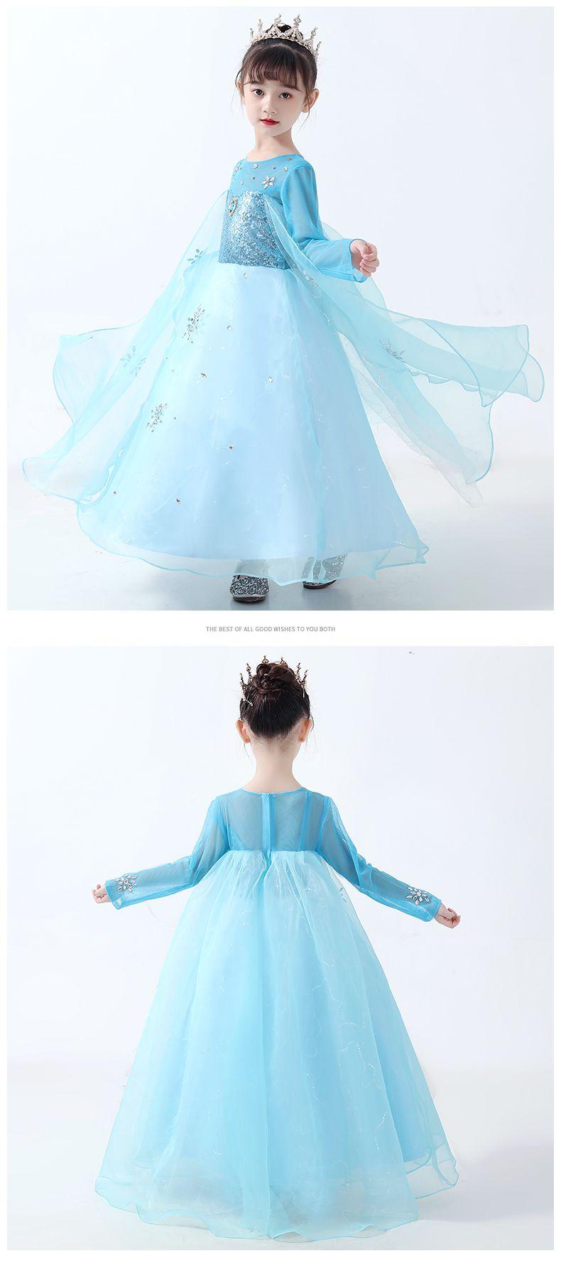 Girls Quality Disney Frozen 2 Elsa Dress Elsa Dress Up