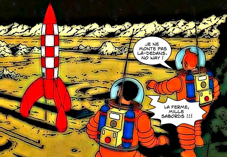 """Résultat de recherche d'images pour """"planche de tintin sur fusée"""""""