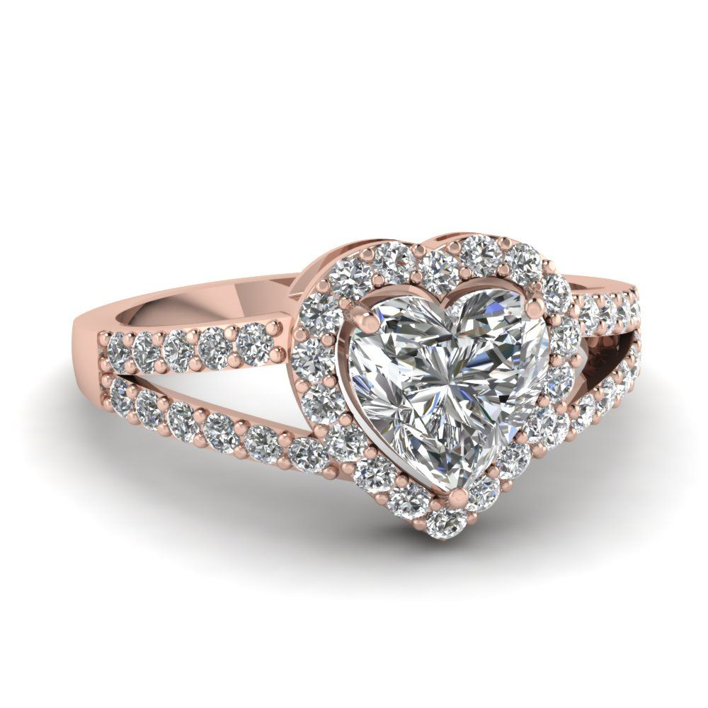 heart halo micro pave ring