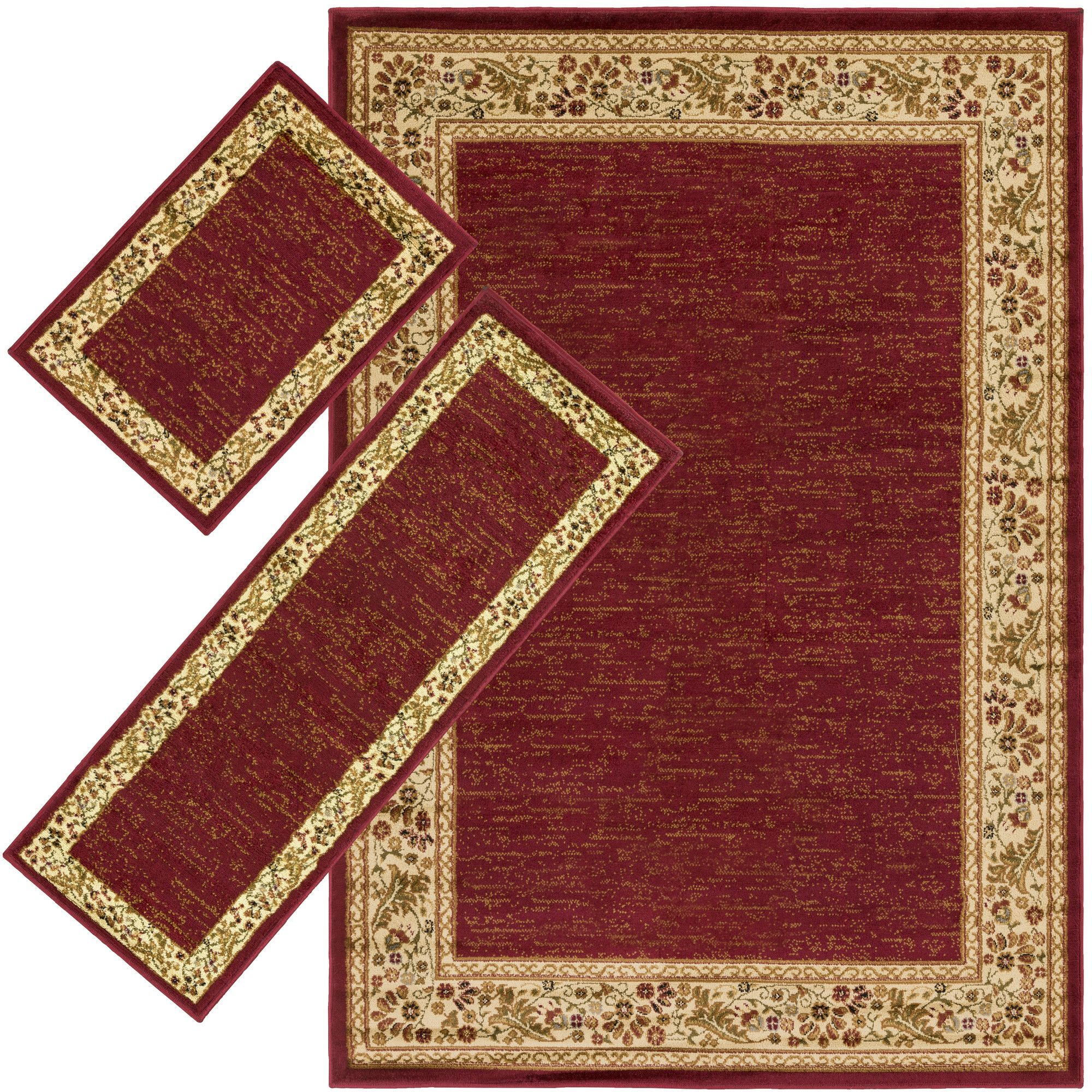 Arbus Dark Red/Wheat Area Rug   Products   Area rug sets ...