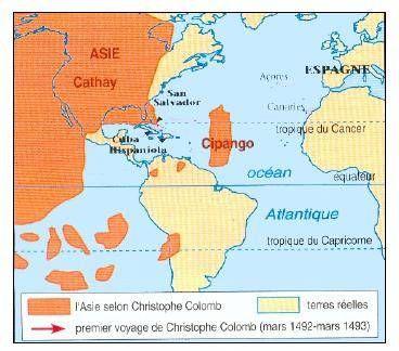 Christophe Colomb, avant de faire son voyage, pensait traversé une ...
