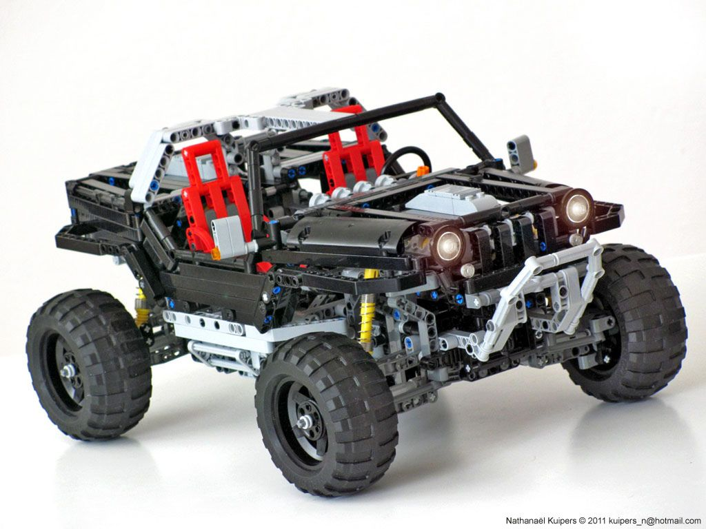 Jeep Hurricane Lego Truck Lego Technic Lego Cars