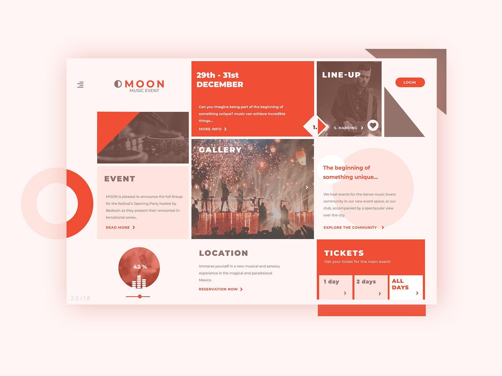 Calendario De Eventos By Fernanda Pacheco Via Behance Web Design Birthday Background Design Event Schedule Design