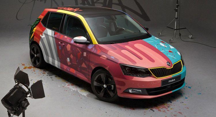 Skoda Gets Artsy Fartsy With New Fabia Carscoops Skoda Fabia Skoda Car Art