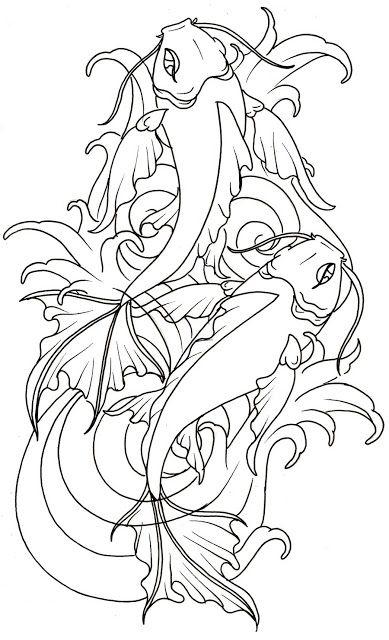 koi fish tattoo | карп кои | Pinterest | Repujado, Para dibujar y Chino