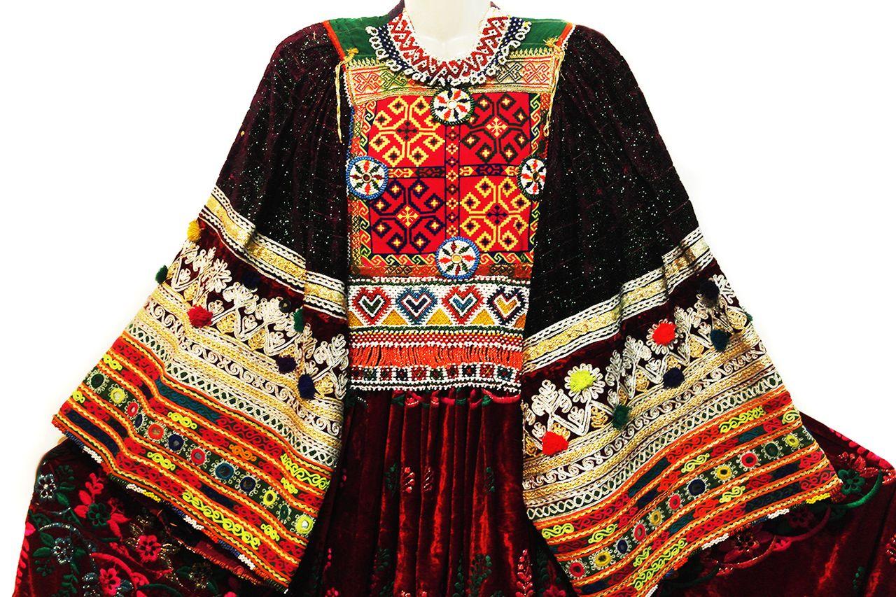 236652c7392b5f afghani dress kuchi ethnic frock gypsy women long clothes