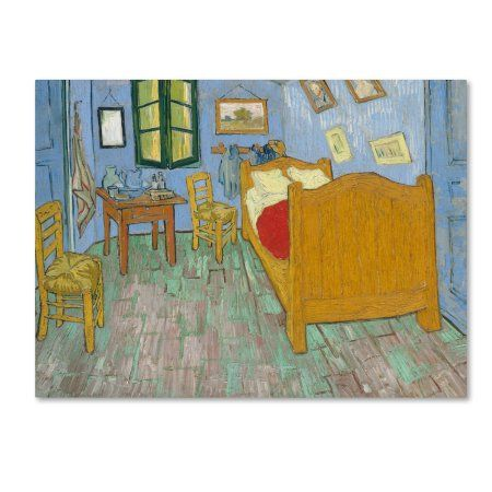 Trademark Fine Art \u0027The Bedroom\u0027 Canvas Art by Van Gogh, Size 35 x