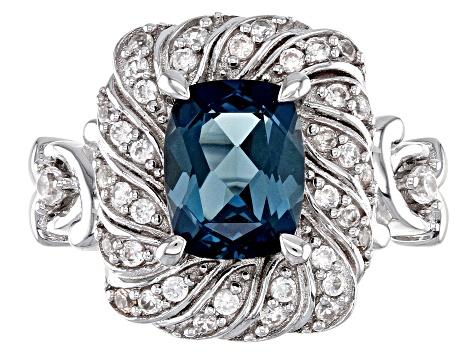 London blue topaz rhodium over sterling silver ring 2.75ctw - SKH097 | JTV.com