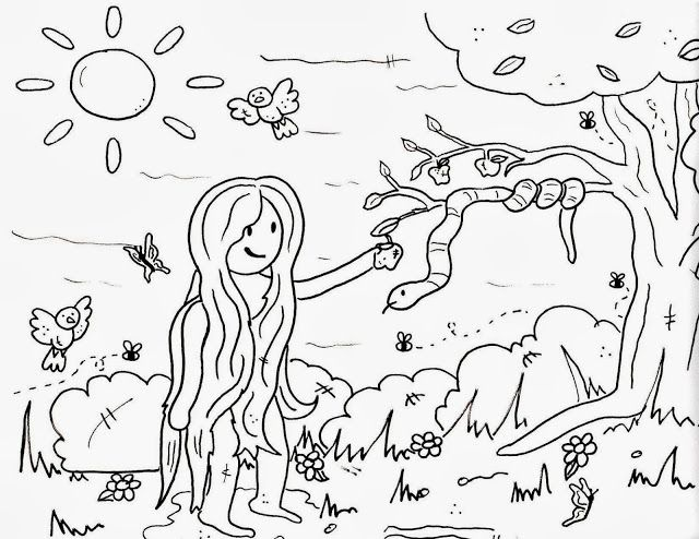 Me aburre la religi n actividades ad n y eva religion for Adan y eva en el jardin del eden para colorear
