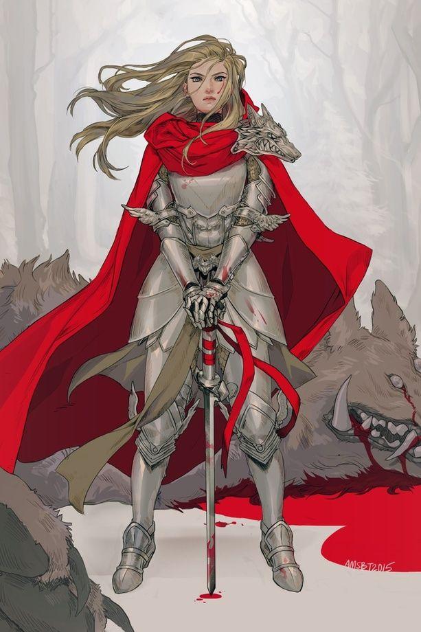 Red Knight, an art print by Manda Schank
