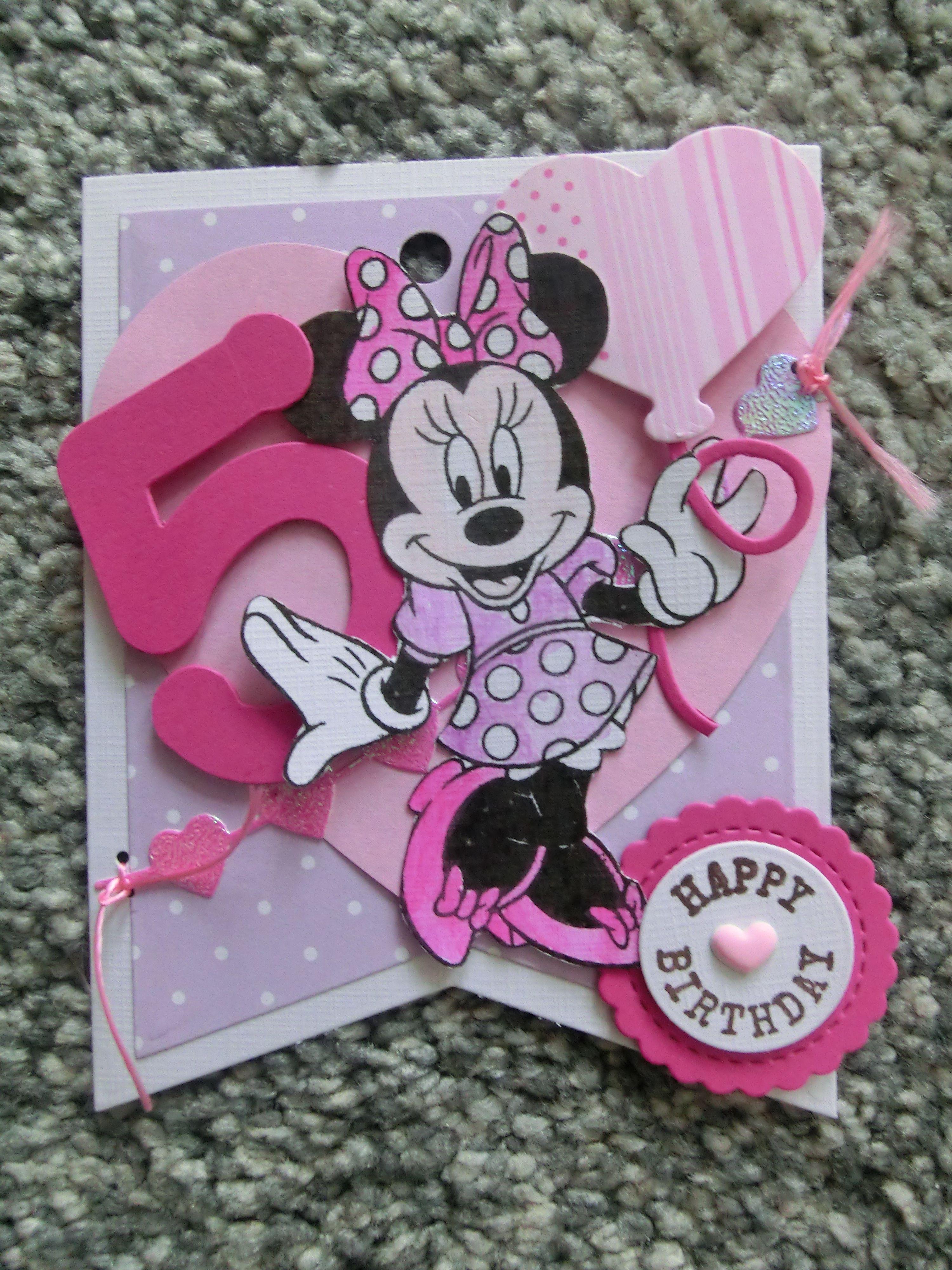mini mouse Little Girl birthday card Birthday cards diy