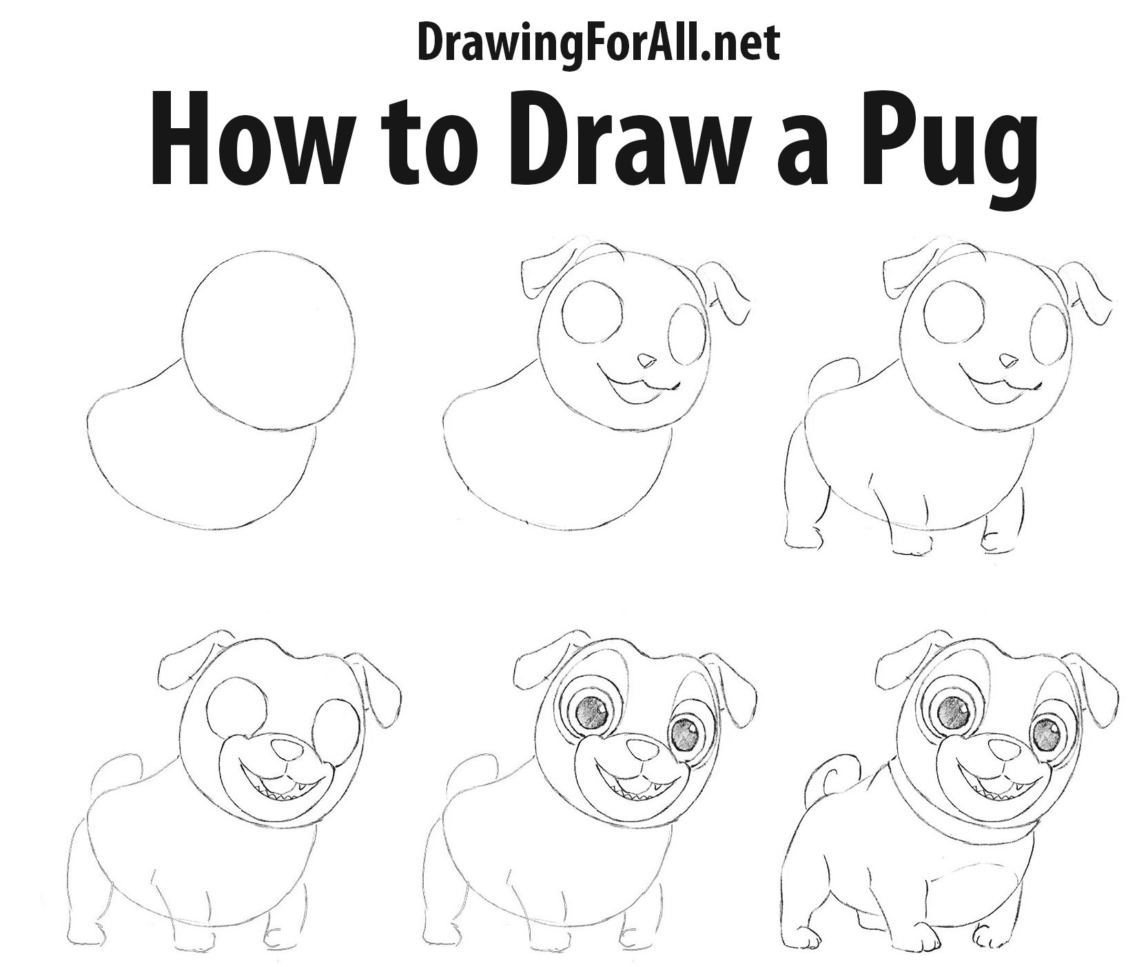 How to draw puppy dog pals dog drawing for kids puppy
