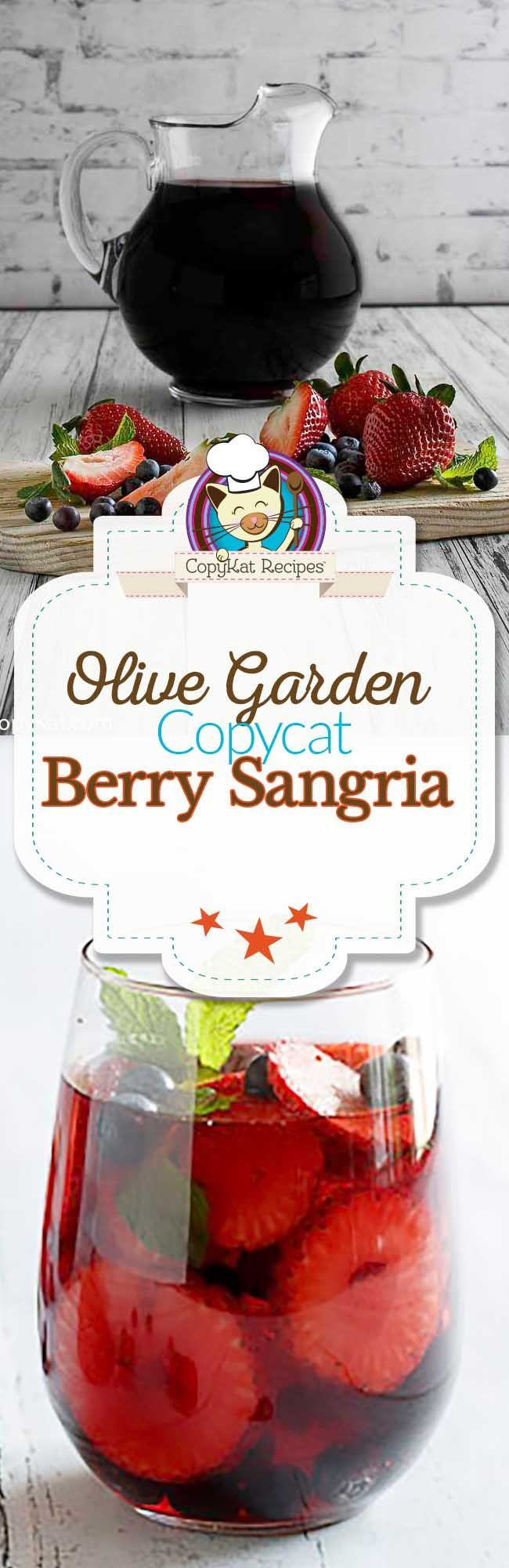 The Best Olive Garden Berry Sangria Recipe And Video Copykat Recipes Recipe Berry Sangria Sangria Recipes Sangria