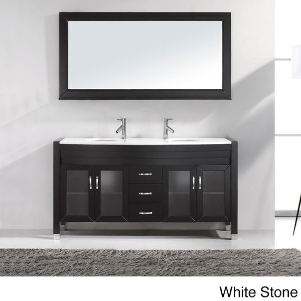 Virtu USA Ava Inch Double Sink Bathroom Vanity Set Overstock - 63 inch double sink bathroom vanity for bathroom decor ideas