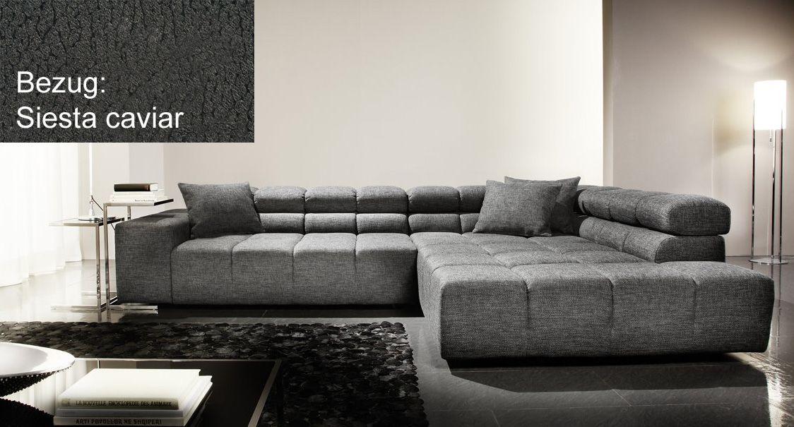 graue wohnlandschaft von candy als mittelpunkt im wohnzimmer polsterm bel pinterest. Black Bedroom Furniture Sets. Home Design Ideas