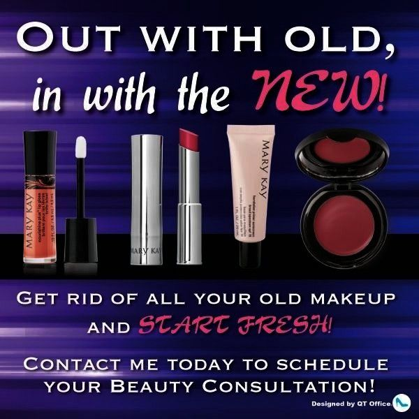 out your old makeup and replace with Mary Kay products Contact me today  Terry Neal terrynealmarykaykay Toss out your old makeup and replace with Mary Kay products Contac...