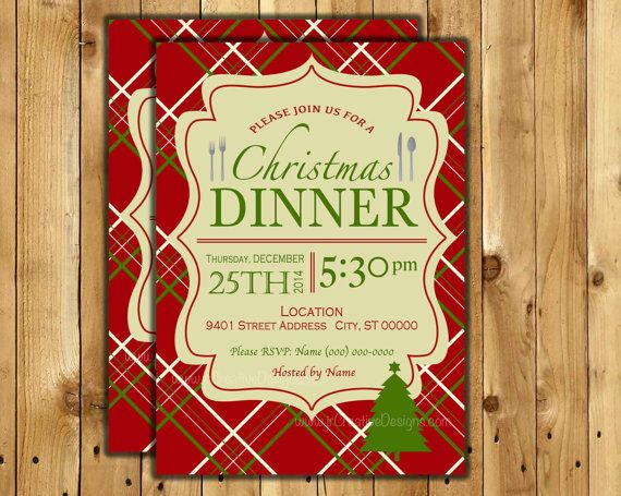 Christmas dinner invite Christmas Dinner invitation Christmas ...