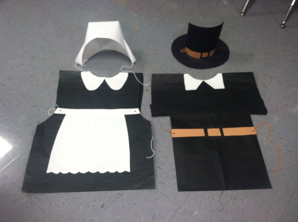 Thanksgiving pilgrim costumes made with paper pre kinder pilgrim costumes made with paper pre kinder solutioingenieria Image collections