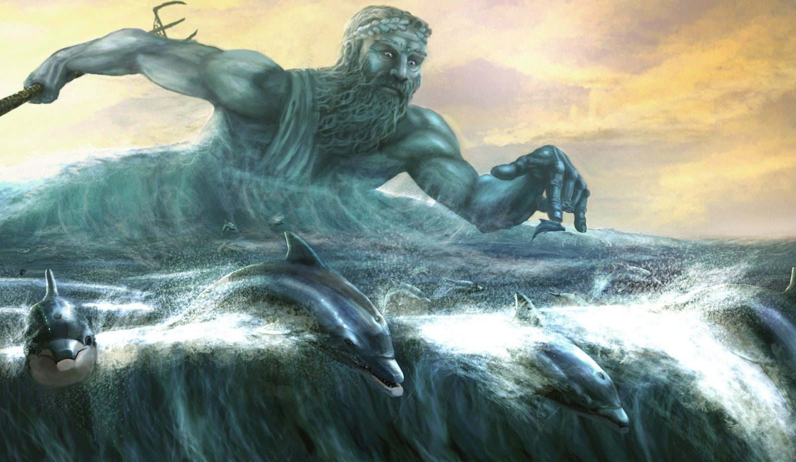 Poseidon The God Of The Sea Mythology Gods Pinterest