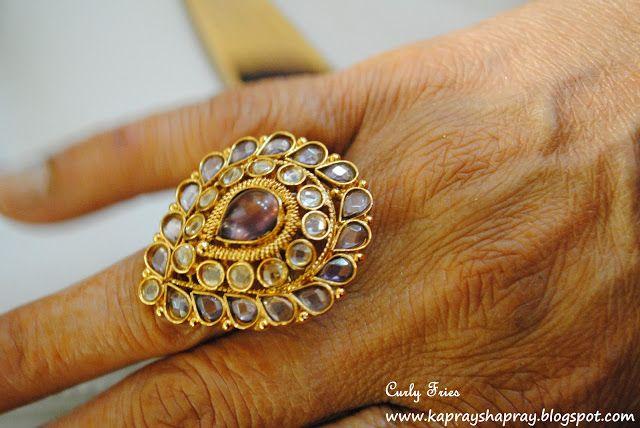 Kundan ring | Pretty jewellery, Gemstone rings, Jewels
