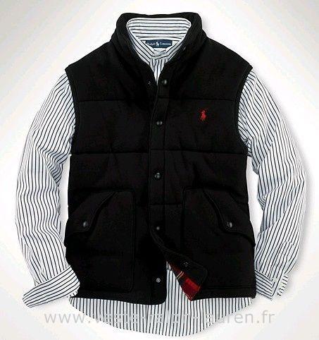 Polo officiel - Ralph Lauren 2013 veste sans manches populaire hommes polo  beau noir Doudoune Ralph