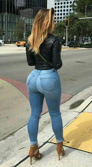 Girl ass jeans 14