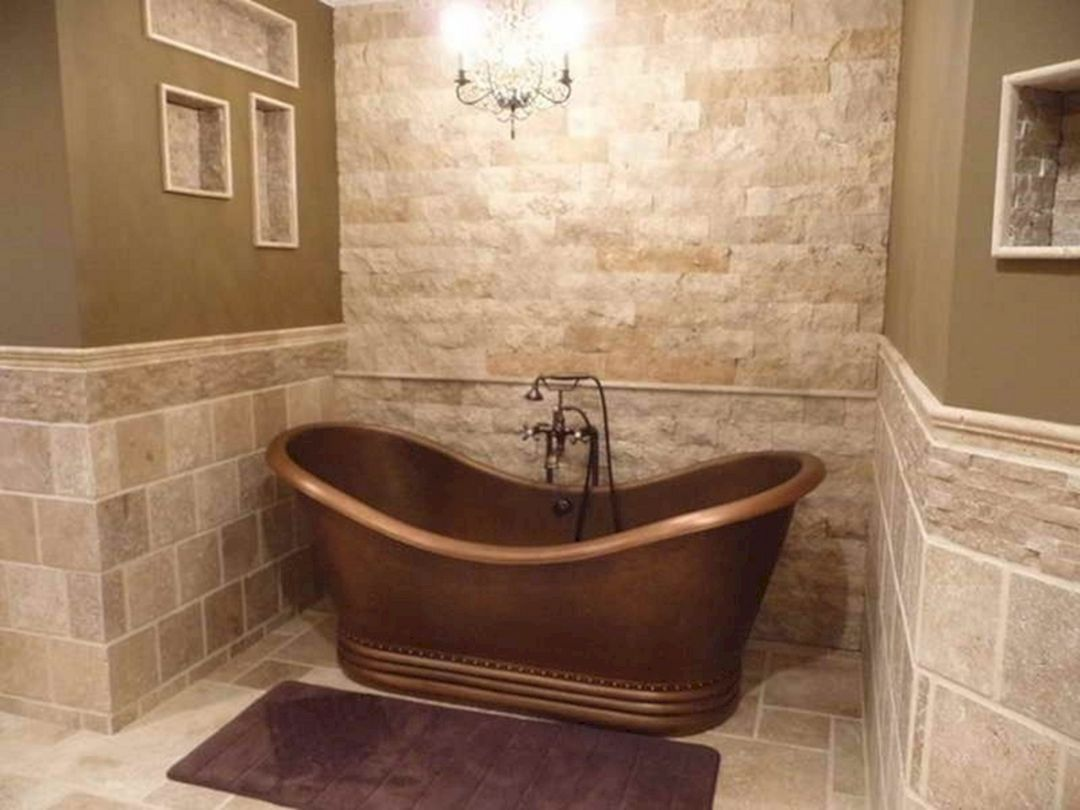 Impressive 25 Natural Bathroom Tile Ideas For Your Bathroom