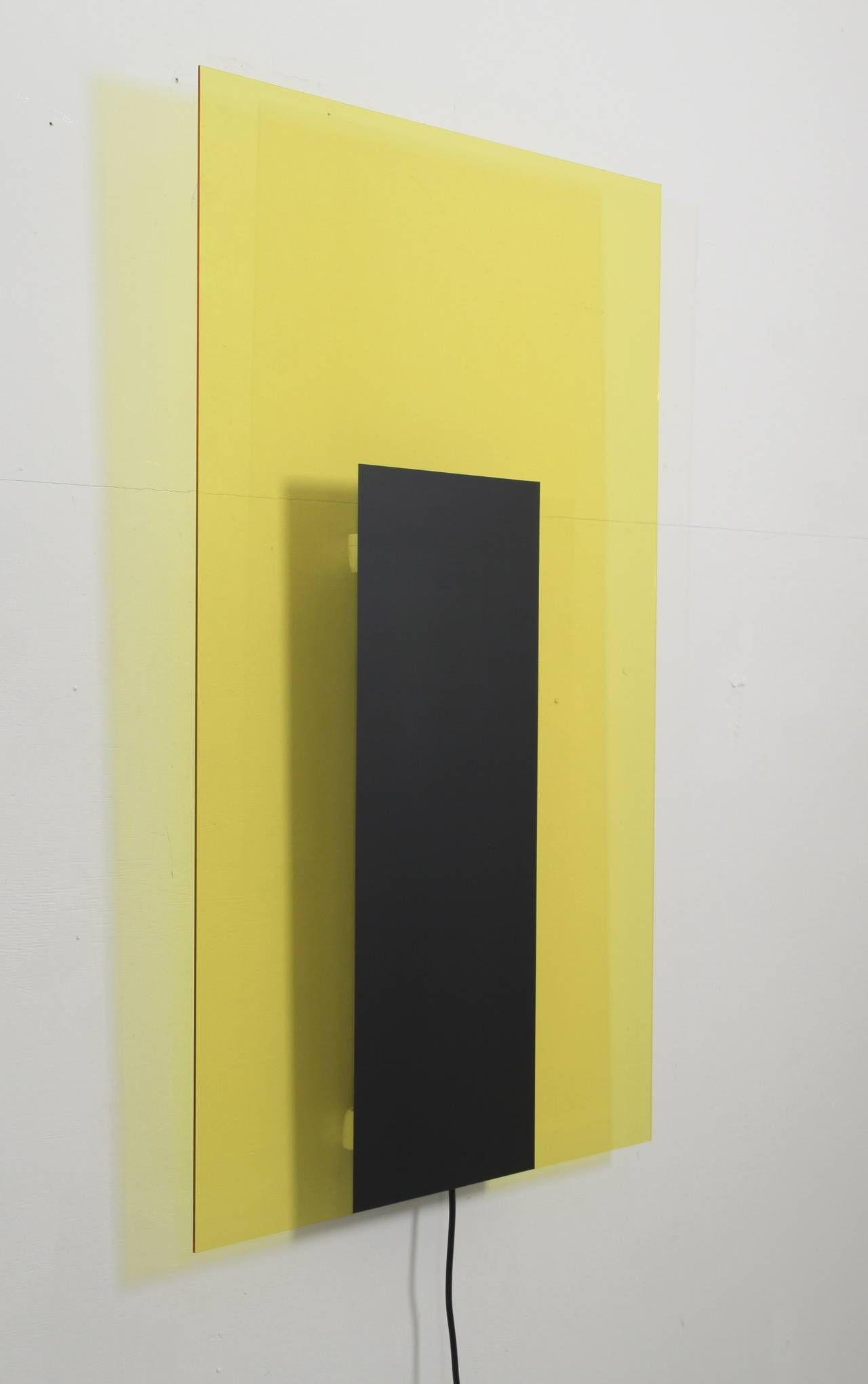Meta Memphis Yellow and Black Light Object by Johanna Grawunder ...
