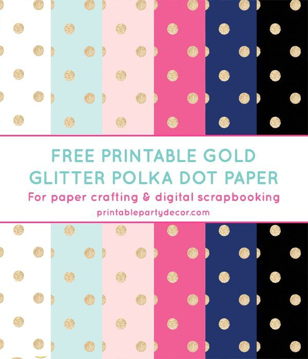 Free Printable Gold Glitter Polka Dot Digital Paper from - dot paper template