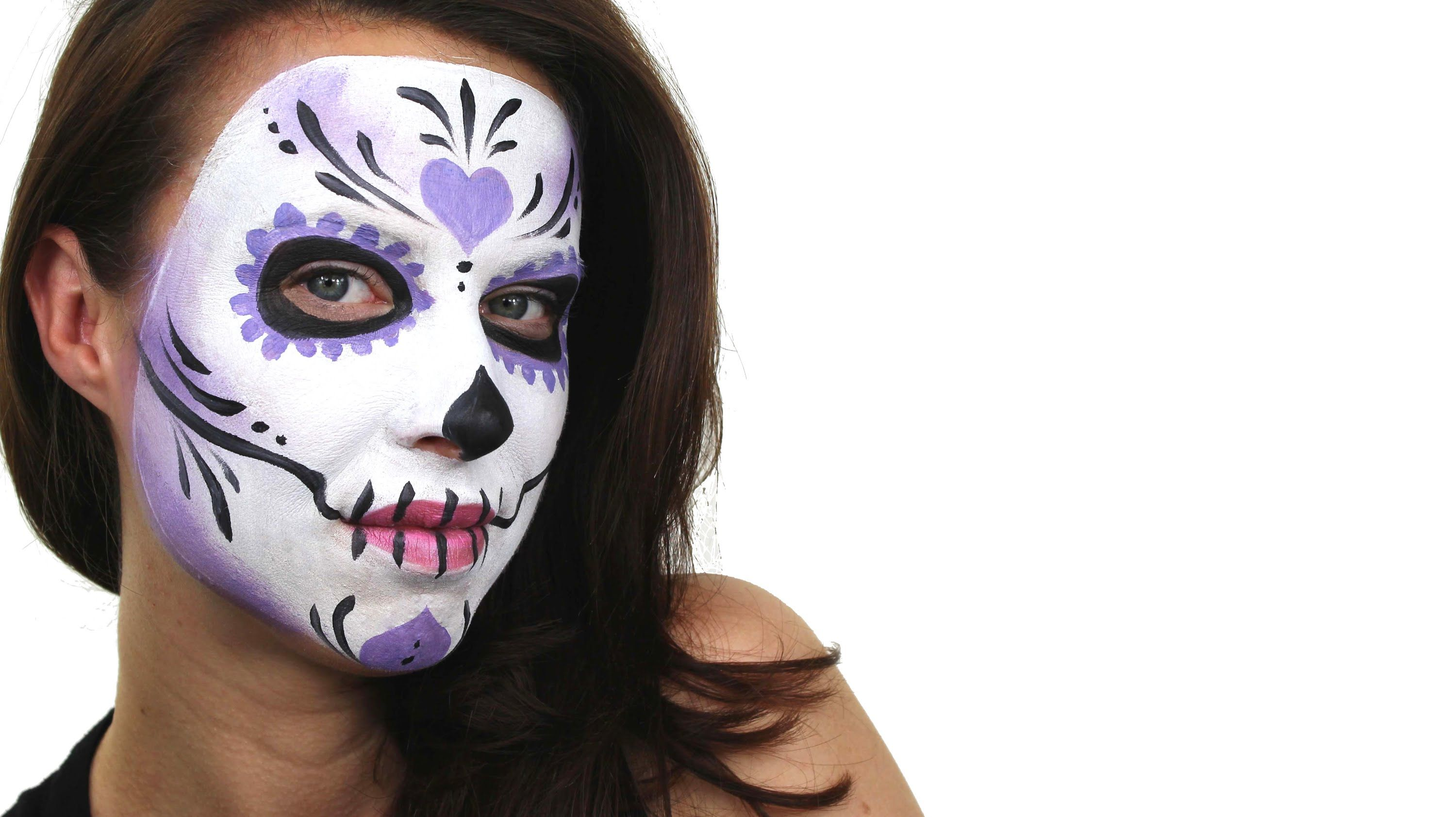 Beginners Sugar Skull Face Painting Tutorial Snazaroo