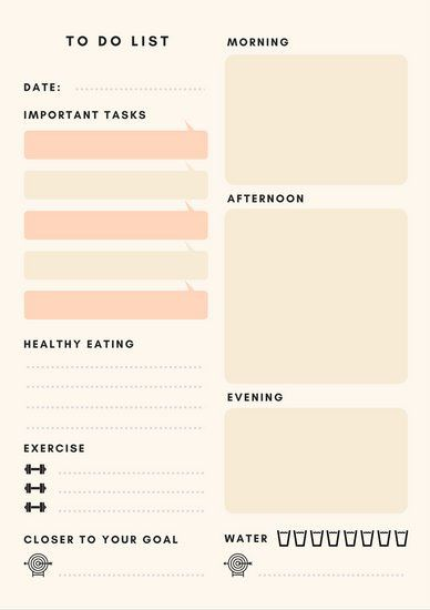 peach daily general personal planner