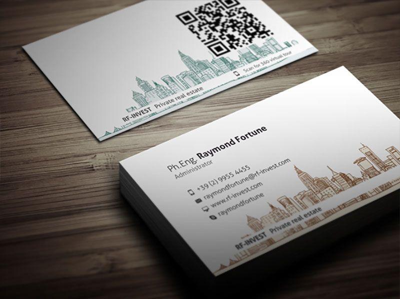 Real Estate Business Card Graphique Papier Cartes De Visite
