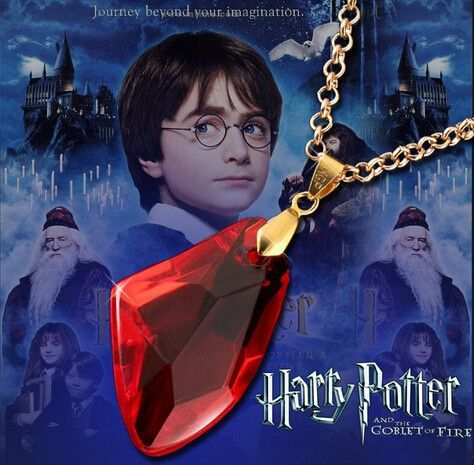 Harry Potter Necklace The Sorcerer S Red Crystal Magic Philosophers Stone Harry Potter Necklace Harry Potter Magic Harry Potter Jewelry