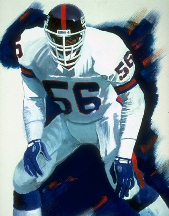 """New York Giants Lawrence Taylor """"LT"""" Painting New york"""
