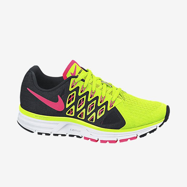 #Nike Air Zoom Vomero 9's in Volt/Black/Hyper Punch from Nike.com.