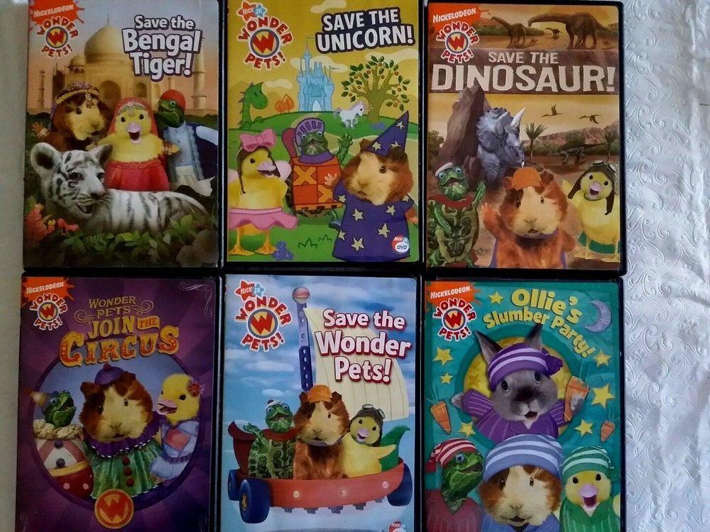 Wonder Pets Dvd Lot Of 6 Nick Jr Ships Immediately Wonder Pets Pets Pet Toys