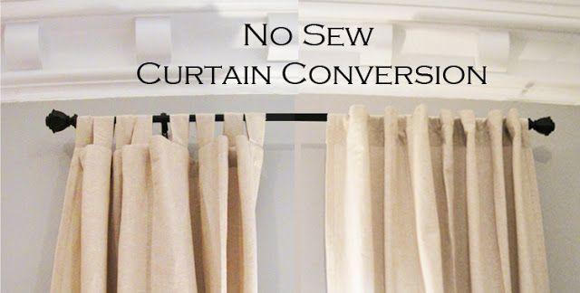 No Sew Curtain Conversion No Sew Curtains Curtains Diy Curtains