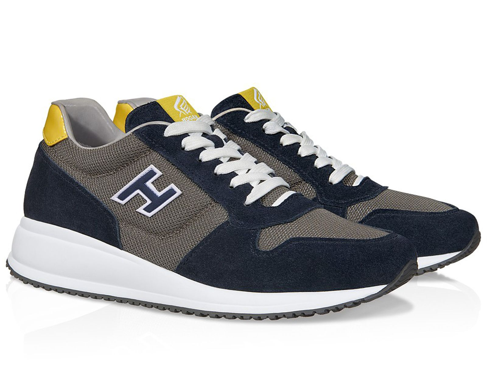 Hogan Interactive N20 suede and high-tech fabric sneakers ...